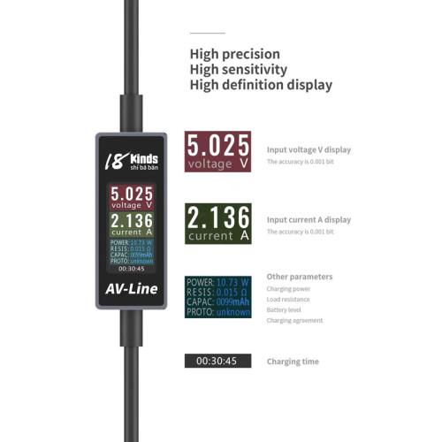 AV-LINE 18 kinds Intelligent detection of USB data cable