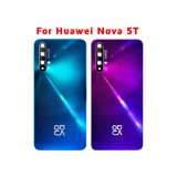 Original Back Glass Panel For Huawei Nova 5T Battery Cover Rear Housing Door Case Replace For Huawei Nova 5T Back Battery Cover