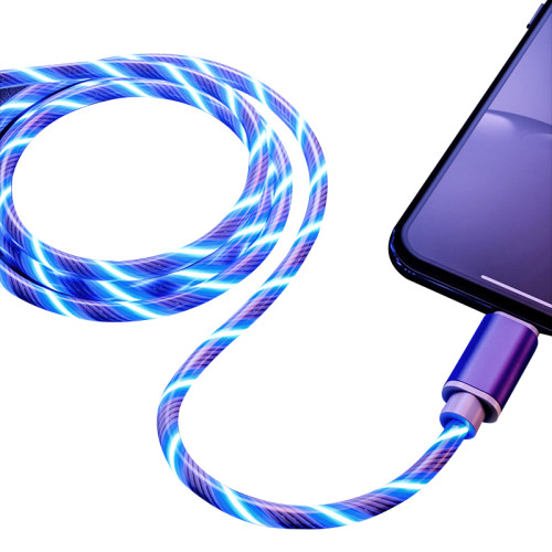 Glowing Cable Mobile Phone Charging Cables LED light Micro USB Type C