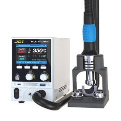 JDI 863 Hot Air Gun BGA Rework Station 1600W Lead-free Air Gun Stand Exquisite Handle with LCD Display for PCB Soldering Repair