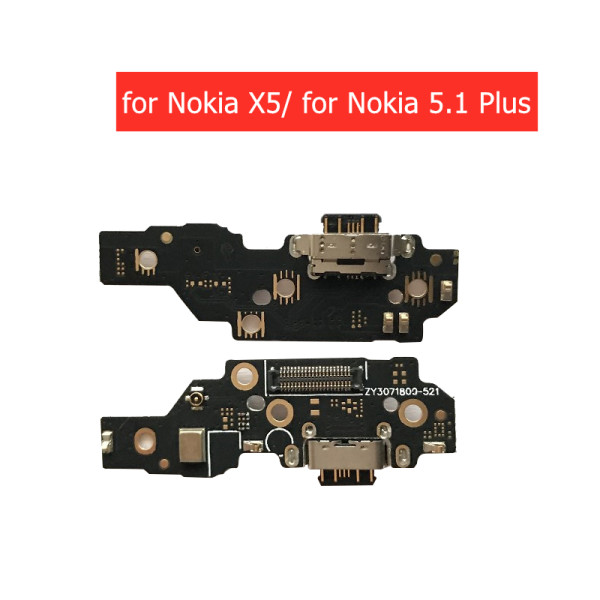 for Nokia X5/ for Nokia 5.1 Plus USB Charger Connector Flex Cable USB Charging Dock PCB Board Flex Cable Type C Spare Parts
