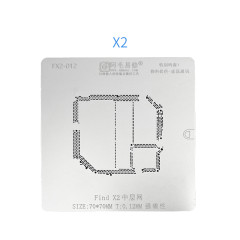 Amaoe FindX2 Middle-layer Tin-planted Mesh Mainboard Stencil 70*70mm T:0.12MM