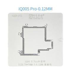 Amaoe iQOO5Pro Motherboard Middle Layer Tin Planting Steel Mesh Stencil 70*70mm T:0.12MM