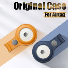 Genuine Leather Protective Sleeve Case Cover For Apple Airtag Tracker Location Protector