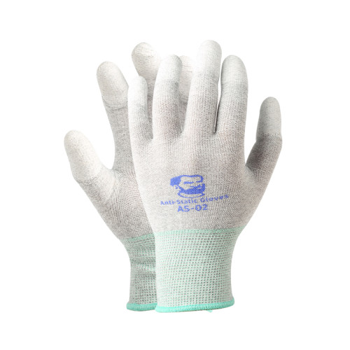 MECHANIC Repairman Gloves Anti-Static Carbon Fiber PU Insulation Coating Finger Protective Electronic Oil-Proof Gloves