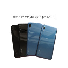 Original 6.1 inch NEW For Huawei Y6 2019 / Y6 Prime 2019 / Y6 Pro 2019 Back Battery Cover Door Housing case Rear Glass parts