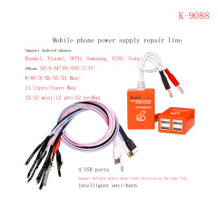 Kaisi K-9088 Mobile Phone Repairing Power Supply Cable For Android And Apple iPhone SE 6G to 12Promax