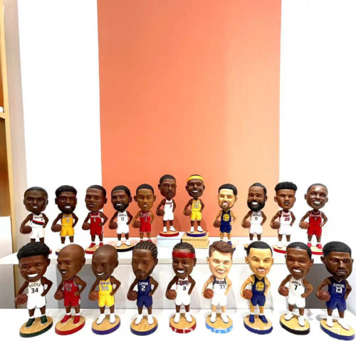 Resin crafts hand-made doll ornaments for NBA basketball stars