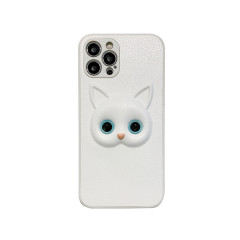 Three-dimensional different pupil black and white cat eye phone case for iphone 6~12promax