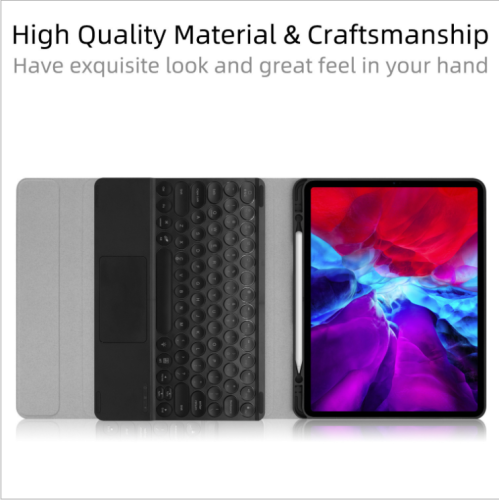 New ipad silicone case with magic control bluetooth keyboard.