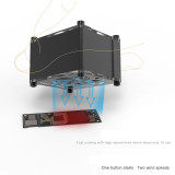 2uul mini fan 5V type-C connected to the power supply without battery for mobile phone motherboard repair welding smoke exhaust
