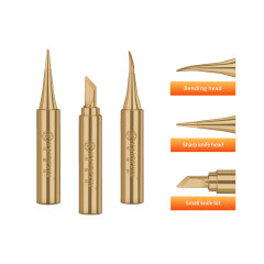 KGX-936 copper-colored soldering iron head (tip/bend/knife head)