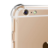 Soft Silicone Material PC+TPU Protective Transparent Case 1mm