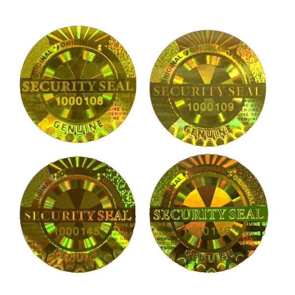 10*10 mm Original Genuine Anti-Fake Warranty VOID Security Seal 3D Golden Sticker 10000pcs