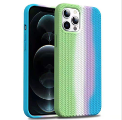2021 New  woven anti-slip  silicone cover suitable for iphone X/ 12/13