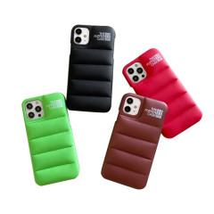 Fashion Brand Down Jacket Phone Case For iPhone 13 12 11 Pro Max X XS XR 7 8 Plus SE 2020 The Puffer Case Soft Silicone Cover