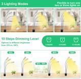 Vogek Tri Head Auto On/Off Plant Growing Lamp