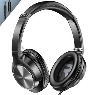 Vogek Lightweight Portable Over Ear Headphones with Mic