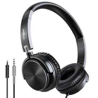Vogek Lightweight Portable On Ear Headphones with Mic