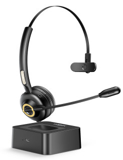 Vogek Trucker Bluetooth Headset Noise Cancelling Mic with Charging Base