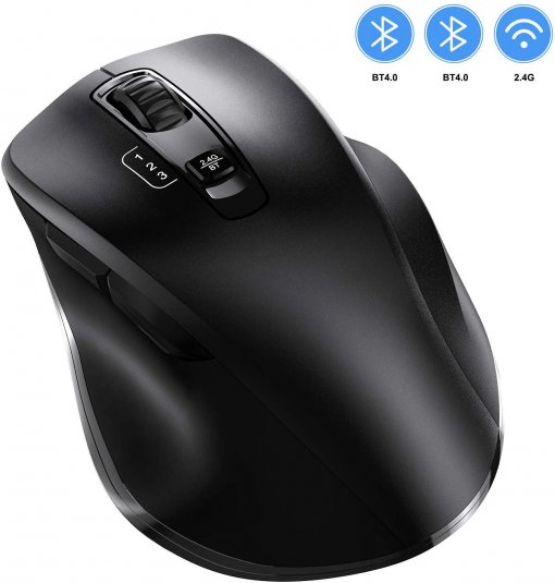 VOGEK 2.4GHz Wireless Bluetooth Mouse with 3 Adjustable DPI