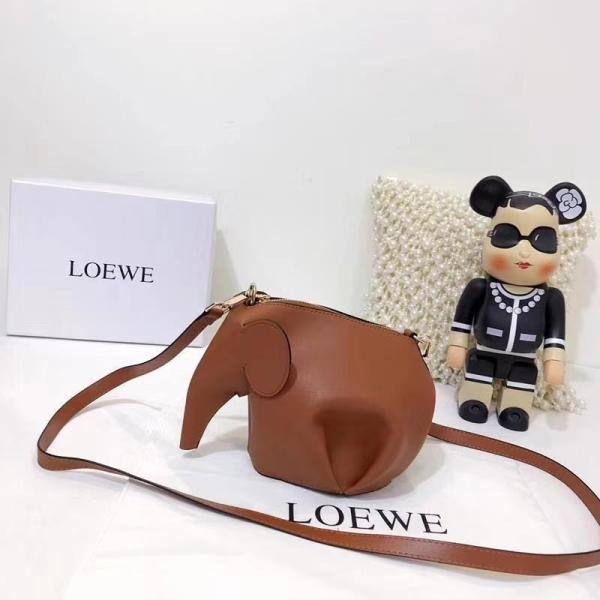 LOEWE  New Shopping Leather Tote Classic Elephant Package Shoulder Bag