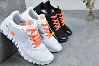 Nike Off White x Nike Free 3.0.2 Joint Barefoot Mesh Light Running Shoes