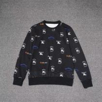 2018 burbeery autumn and winter new black full-print warhorse round neck sweater