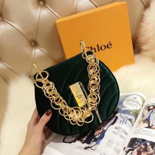 Chloe (Velvet) Piglet Bag Chloe Drew Metal Chain Bag Shoulder Bag