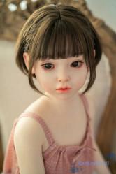 シリコン製ラブドール waxdoll ロリ人形 110cm 貧乳 #G58ヘッド