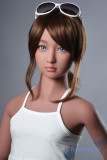 ロリドール AXBDOLL 日焼け肌色 TPE製童顔ラブドール 130cm 貧乳 #16ヘッド