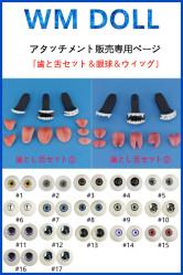 WMDOLL アタッチメント(歯と舌セット&眼球&ウィッグ)販売専用ページ 送料無料