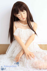 MyLoliWaifu ロリ系ラブドール 126cm(AA) 貧乳 莉子Riko(瞑り目) シリコン製頭部+TPEボディ 送料無料
