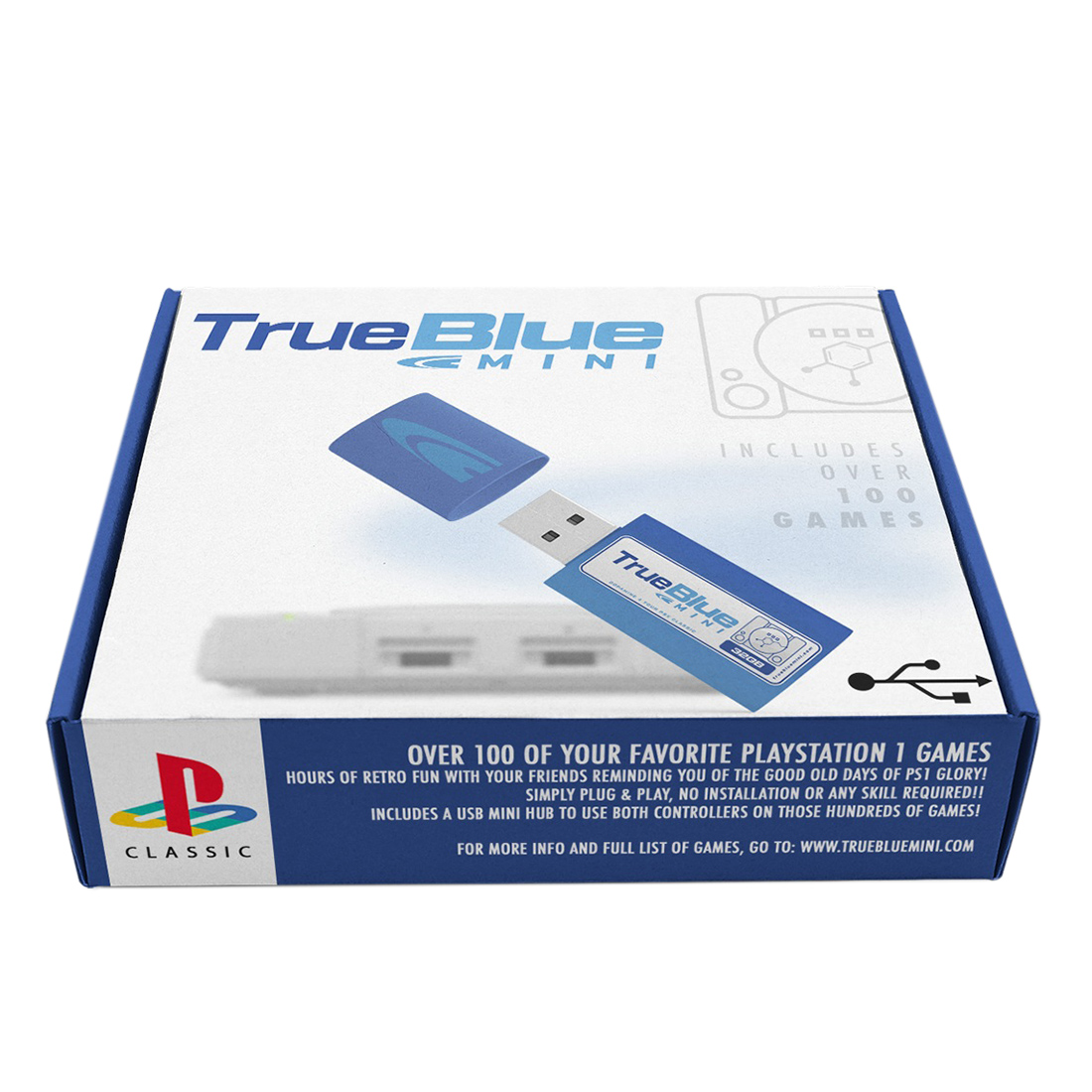 Crackhead Pack /Meth Pack /Fight Pack True Blue Mini USB Flash for PlayStation Classic (Plug and Play)