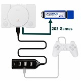 Overdose Pack 203 Games True Blue Mini USB Drive for PlayStation Classic Plug and Play