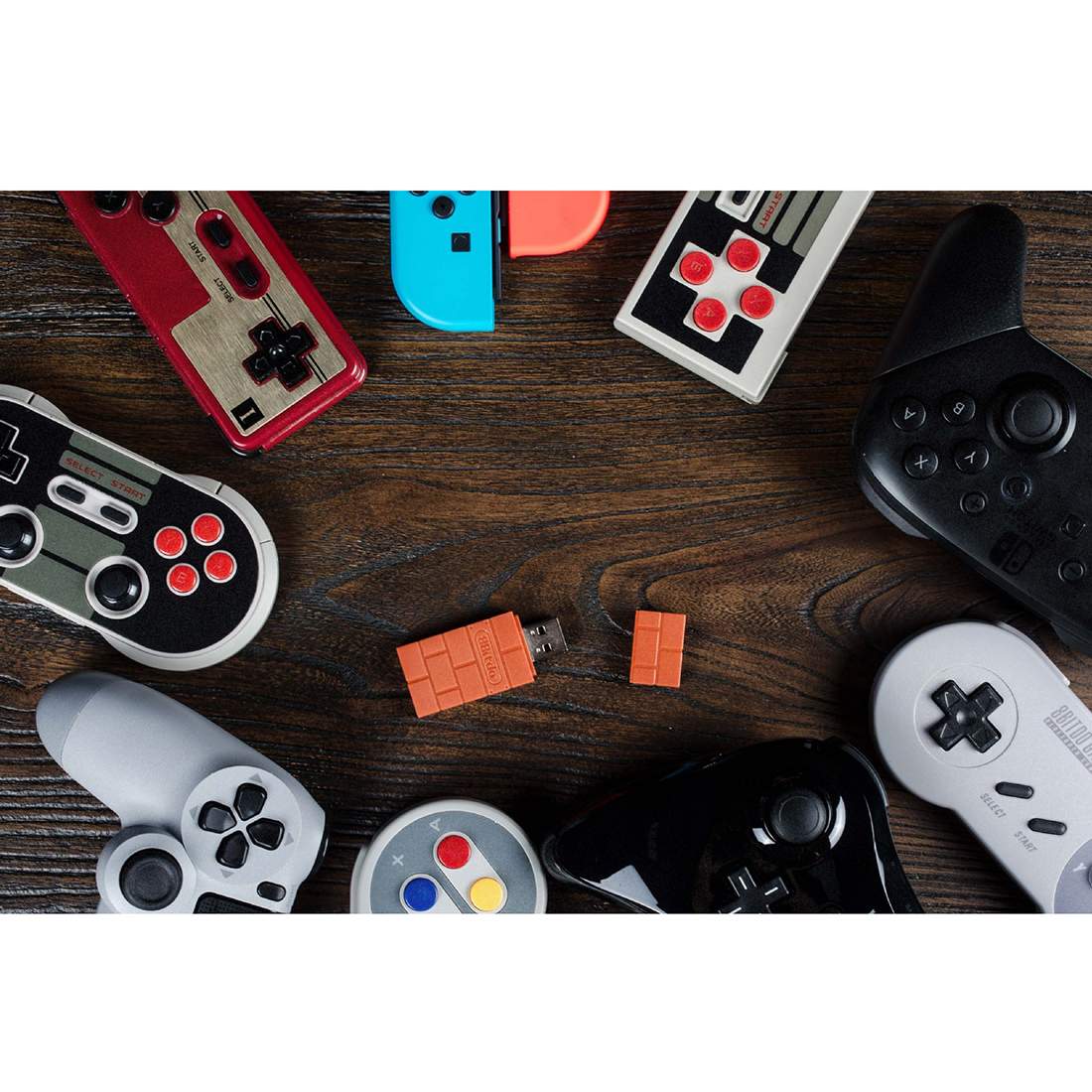 8Bitdo Wireless Bluetooth Gamepad RR Receiver USB Adapter (Wine Red)