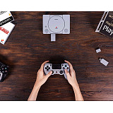 8Bitdo Wireless Bluetooth Adapter for PlayStation Classic /PS1 Mini (Work with PS3 /PS4 Controllers /Nintendo Switch /Windows /Mac /Raspberry Pi)