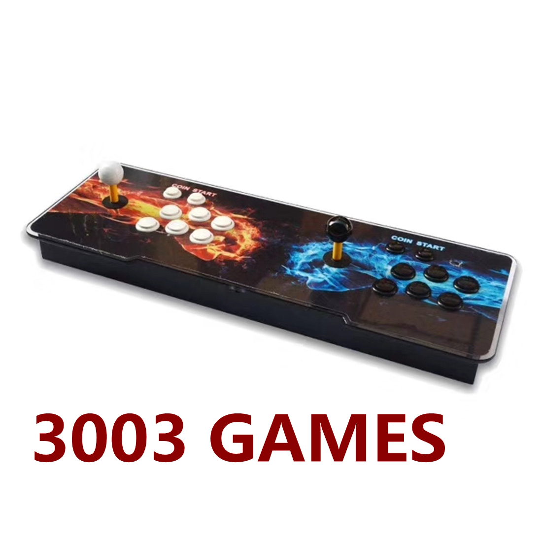 3003-in-1 Video Arcade Games Console Double Stick Home Fight Games Machine - Fists Version
