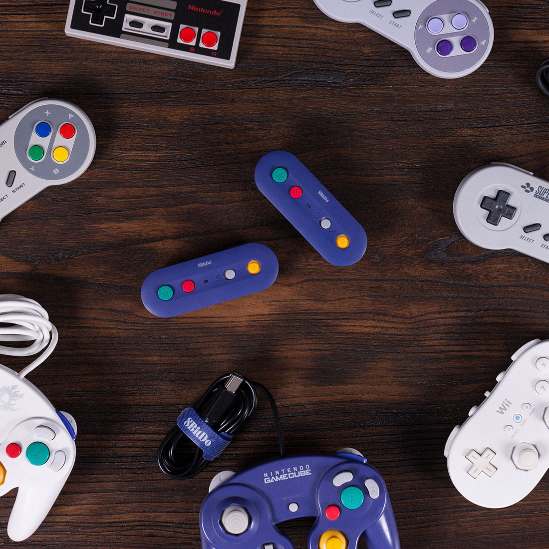 8Bitdo Gbros. Wireless Adapter for Nintendo Switch (Works with Wired Gamecube & Classic Edition Controllers)