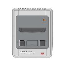 Retroflag SUPERPi Case Functional Power Button with Safe Shutdown Case for Raspberry Pi 3 B+ (B Plus) - EU Plug