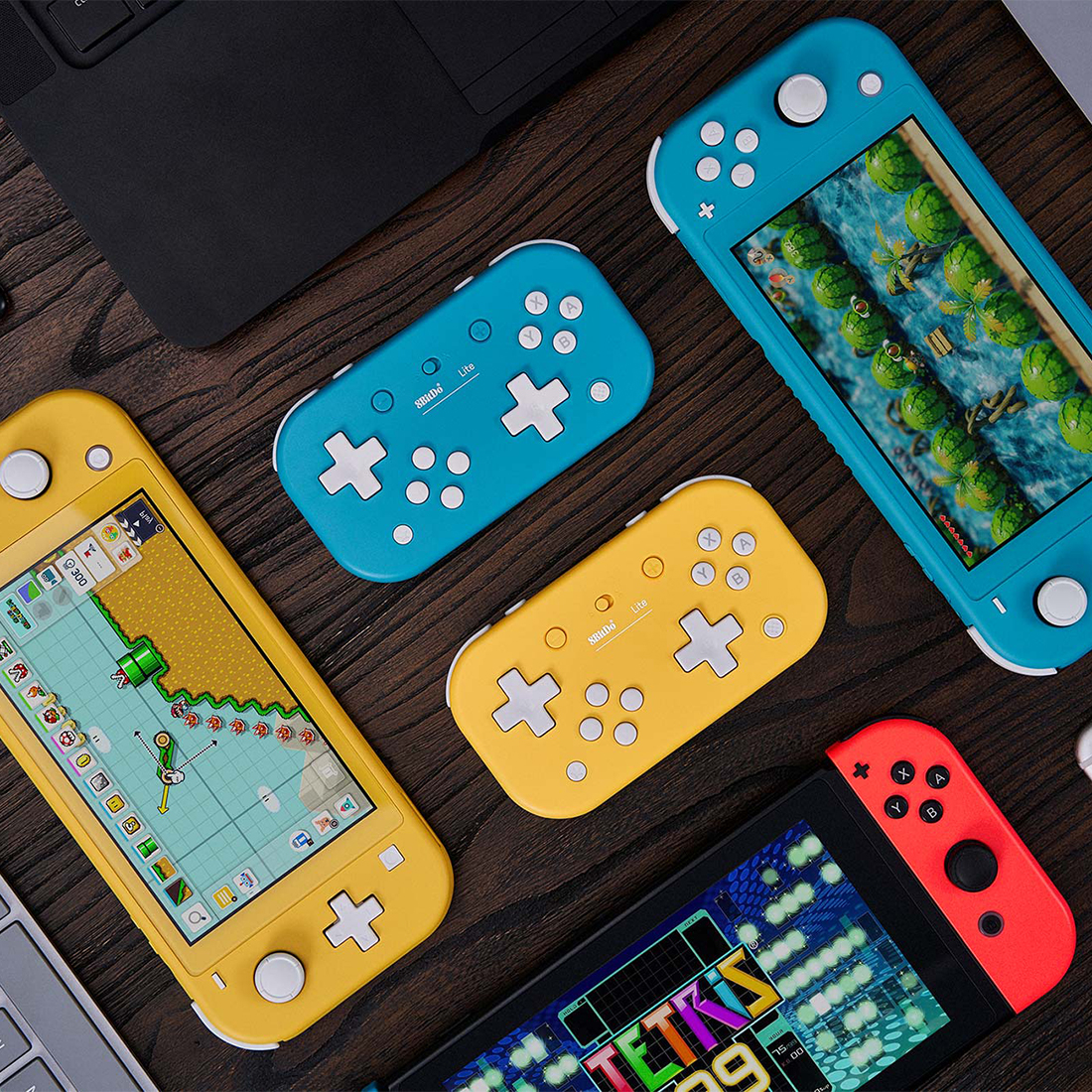 8Bitdo Lite Bluetooth Controller for Tetris 2D Game Work on Switch /Windows /Steam /Respeberry Pi Platform