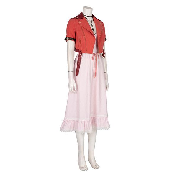 Final Fantasy VII Remake Aerith Dress Cosplay Costume Full Set