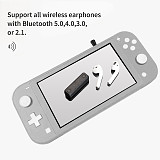 Gulikit NS07 Pro Bluetooth Receiver Wireless Audio Adapter with Microphone for Nintendo Switch