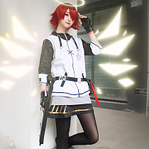 Arknight Exusiai Cosplay Costume Uniform Full Set with Wig