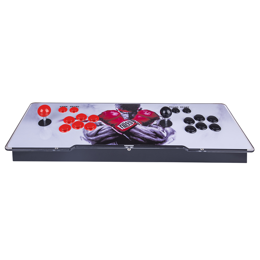 Pandora Box 3D 12S Wifi Version 2650 Games Multi-player Arcade Game Console, Can Download More Games (Black Red Keyboard)