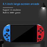 Handheld Arcade Game Console 1000 Games 5.1-Inch Screen Support