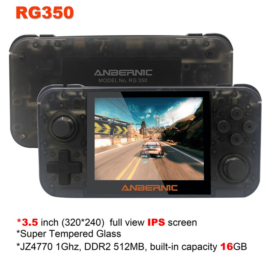 RG350 Handheld Retro Video Game Machine 3000 Games Console IPS Screen 3.5-Inch