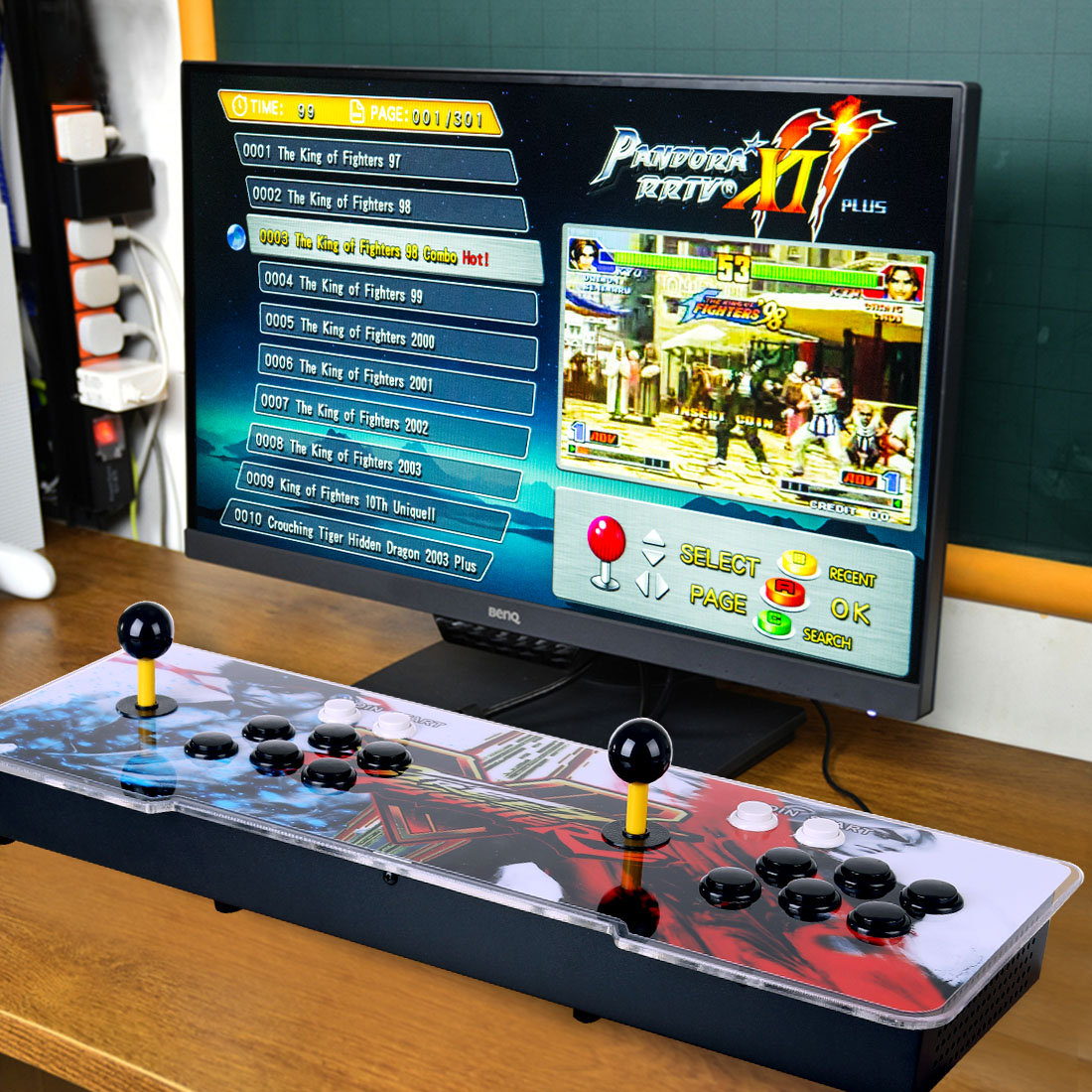 Pandora Box 11S 3003 Games Multi-player Arcade Game Console (Artwork: Street Fighter V) (Metal Body)