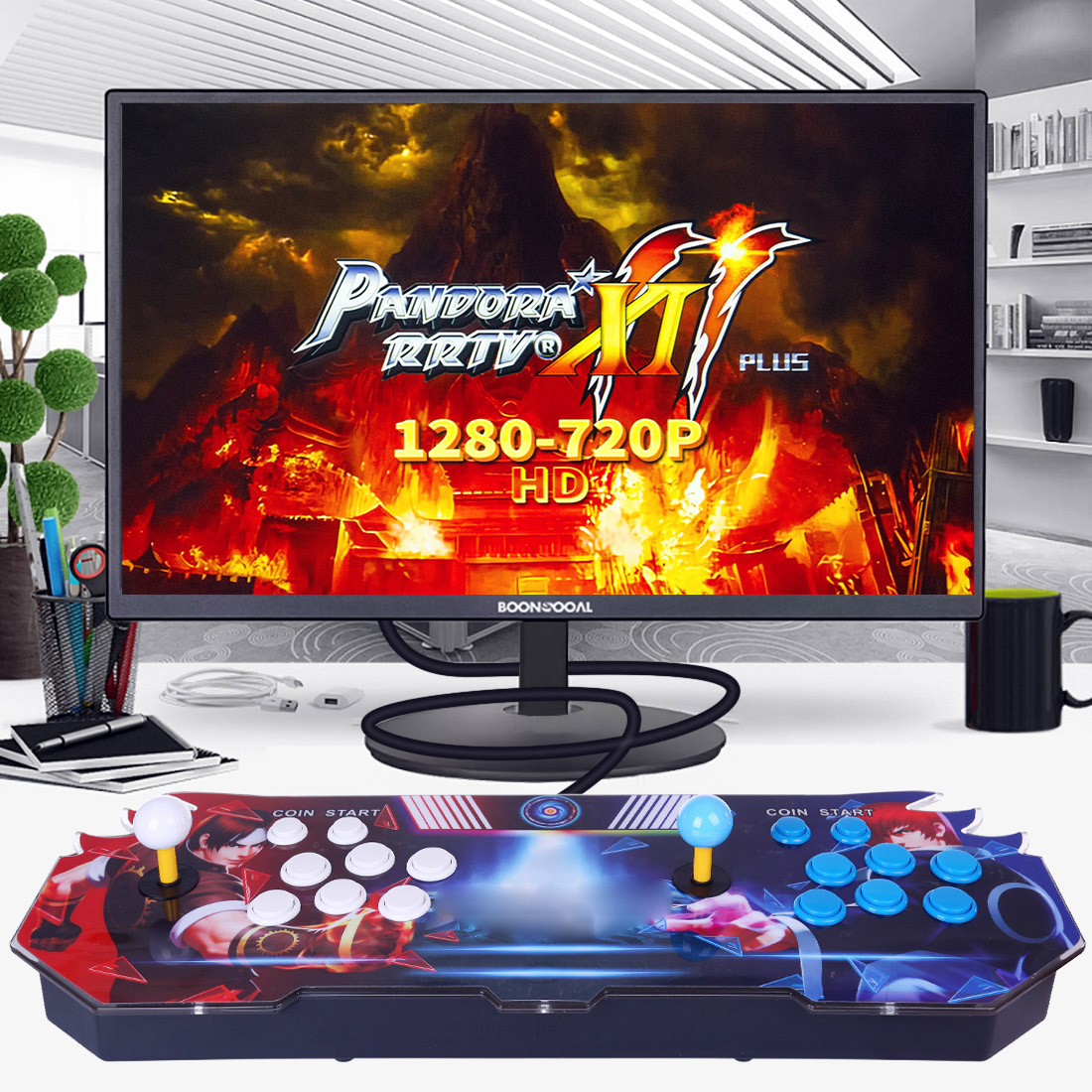 Pandora Box 11S 3003 Games Multi-player Arcade Game Console (Artwork: QANBA)  (ABS Plastic Body)