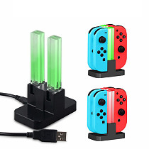 Controller Charging Dock with Colorful Lamppost for Nintendo Joycon